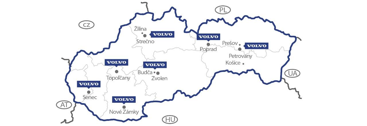 Slovakia Dealer Map